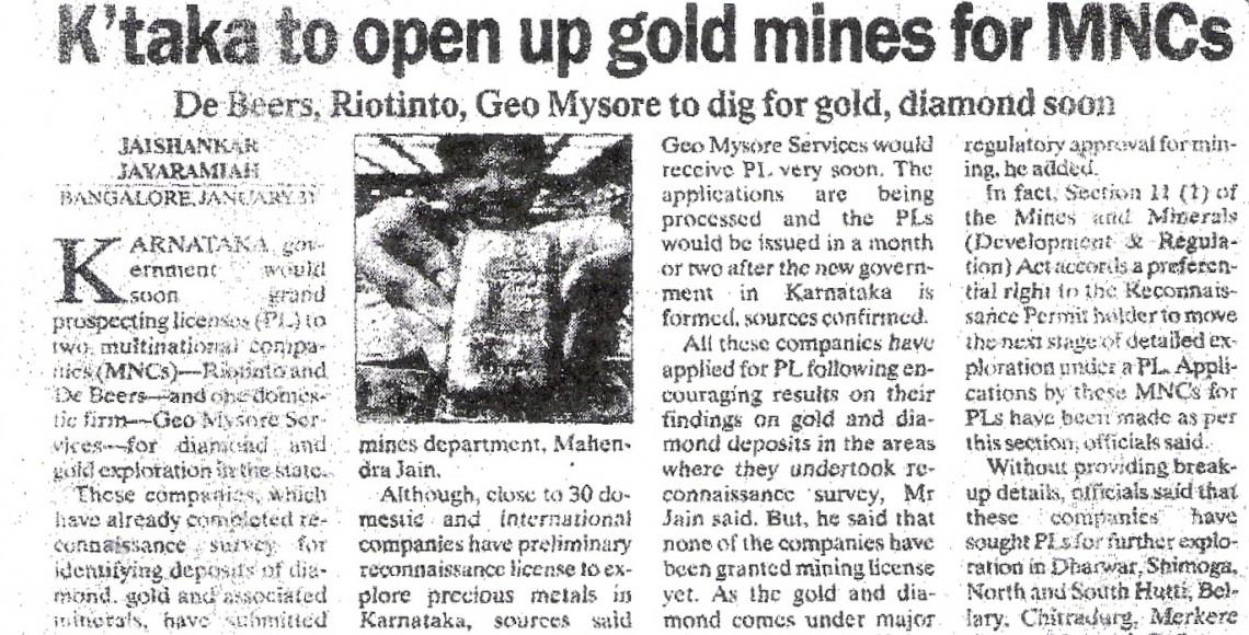 Karnataka_to_open_up_minesforMNCIndianExpress1Feb06